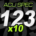 12cm (120mm) Race Numbers ACU SPEC - 10 pack